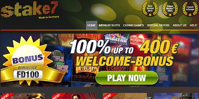 Stake 7 Merkur Online Casino 100%|bono de bienvenida|casino en línea hasta 400 €
