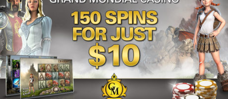 150 spins for just $10 Grand Mondial