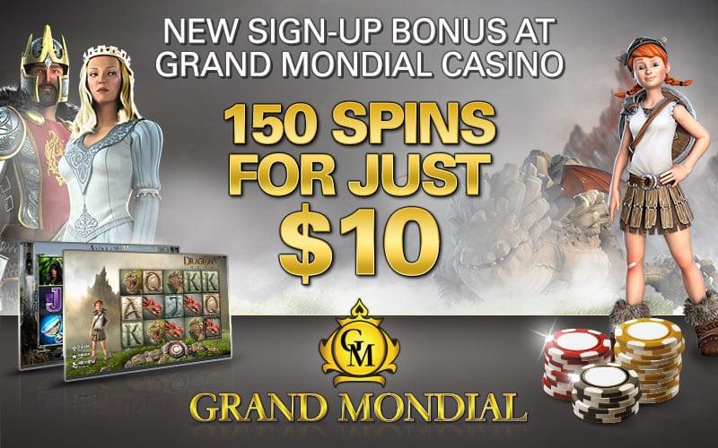 150 spins |bono de bienvenida|casino en línea| Grand Mondial