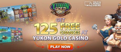 Yukon Gold 125 free chances|bono de bienvenida|casino en línea
