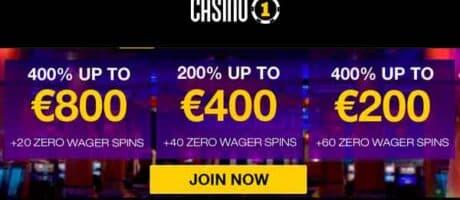 Casino1 Club Welcome Bonus