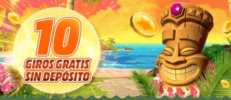Bono casino sin depósito 10 GIROS GRATIS