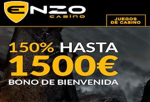enzo casino 150% hasta 1500