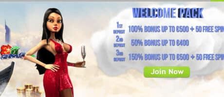 1º - Bono Máx. del 100% hasta 500 € + 50 Giros Gratis TS casino