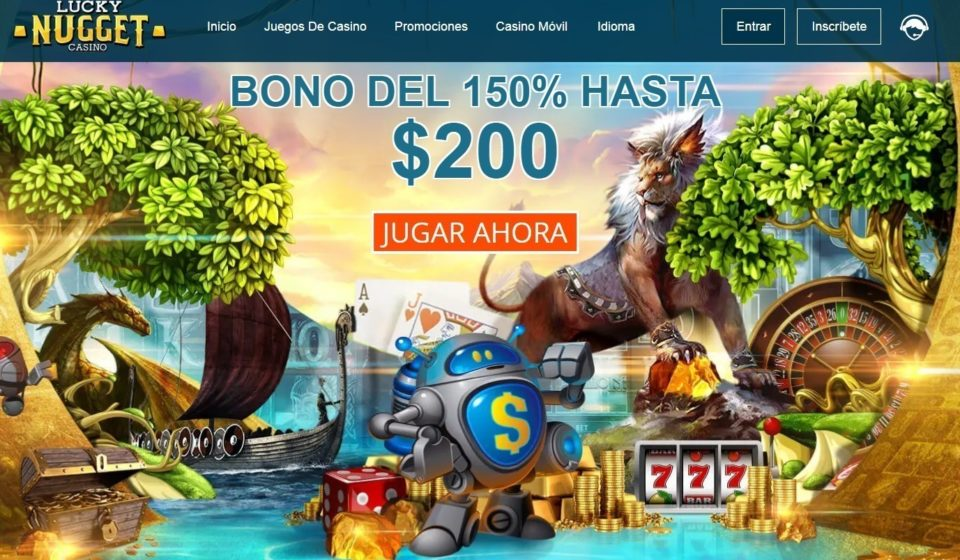 BONO DEL 150% HASTA $200 lucky nugget
