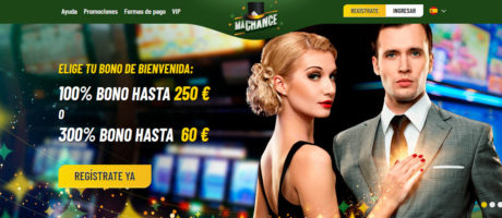 BONO DE BIENVENIDA 100% hasta 250 € y 20 tiradas gratis