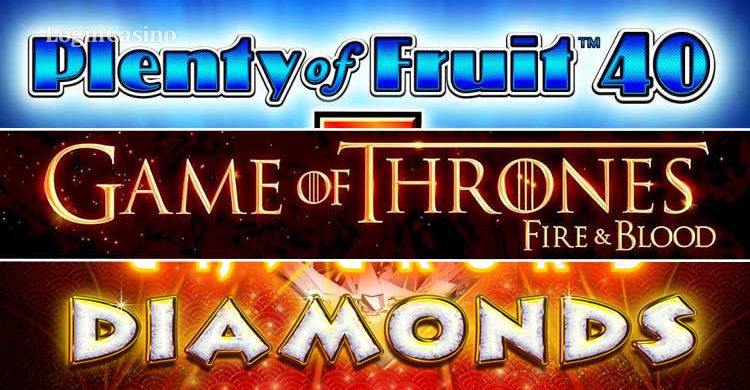 Revisión del juego: Plenty of Fruit, Game of Thrones fire & blood, Diamond slot